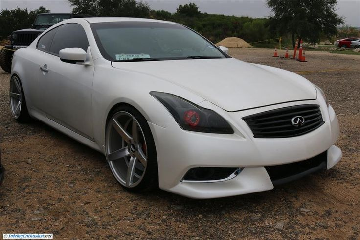 Infiniti G37 coupe. As seen at the September 2014 Cars and Coffee show in Austin TX USA.