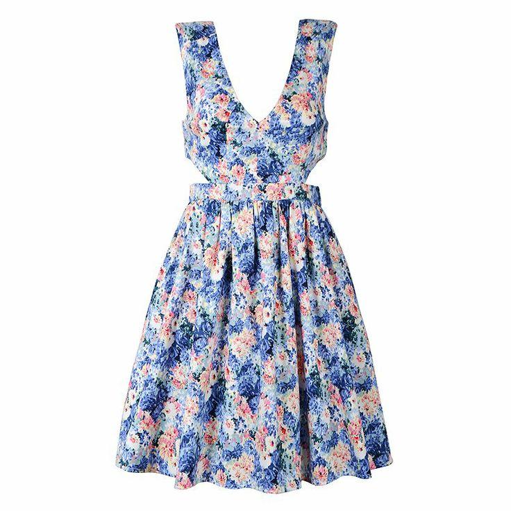 SUMMER FLORAL CUT OUT DRESS = $34.99