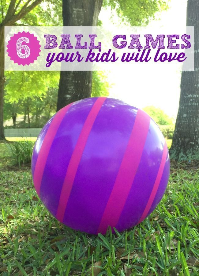 6 Ball Games your kids will LOVE this summer outside.
