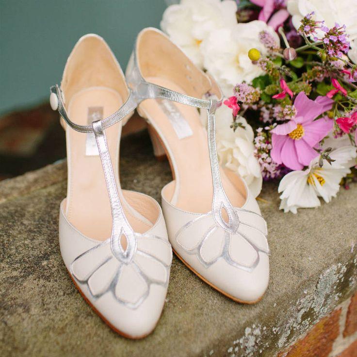 Gardenia closed toe leather wedding shoes by Rachel Simpson