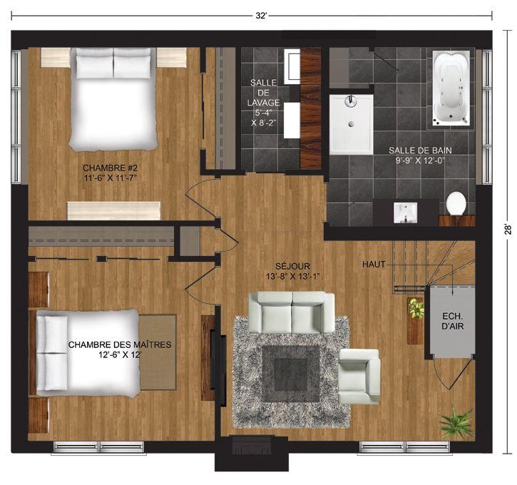 7 best Chalet usinée - Panorama images on Pinterest House floor - faire une chambre dans un salon