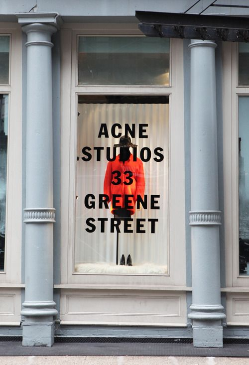 Acne clothing store SoHo. Once again we can see the identity of the