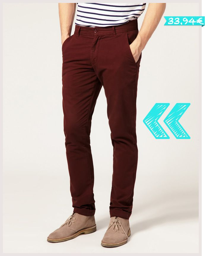 How To Wear It: Burgundy Chinos. October 24, By Dappered Team | Heads up: Buying via our links may result in us getting a commission. Here's why.
