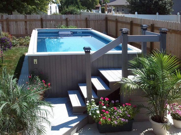 50 best small above ground pools images on pinterest for Above ground pool decks jacksonville fl