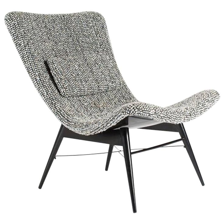 Miroslav Navratil 'TV Chair' Lounge for Cesky Nabytek, Czech. Ca.1959