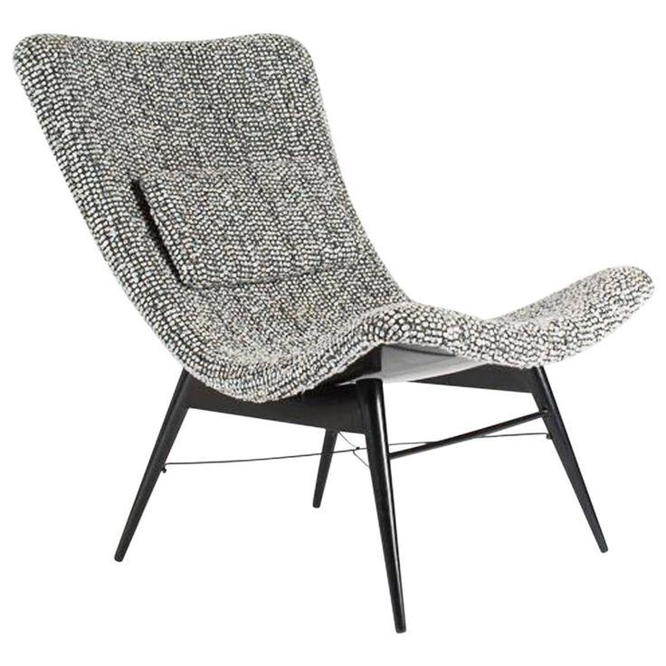 Miroslav Navratil 'TV Chair' Lounge for Cesky Nabytek, Czech. Ca.1959