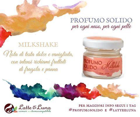 """Qualcuna di voi ha già avuto modo di provare i nuovissimi profumi solidi di Latte & Luna... Oggi vi presentiamo nel dettaglio MILKSHAKE.  Tra l'altro, il comodo formato, permette di portarlo in borsetta... """"just in case"""".... Delicatamente dolce.... http://www.vecchiabottega.it/profumo-solido-milkshake-latte-luna.html  #LatteELuna #VecchiaBottega #AcqquistiOnline #NegozioBio #EcoBioBlogger #ProfumoSolido #ProfumoNaturale #Natale2016 #IdeaRegalo"""