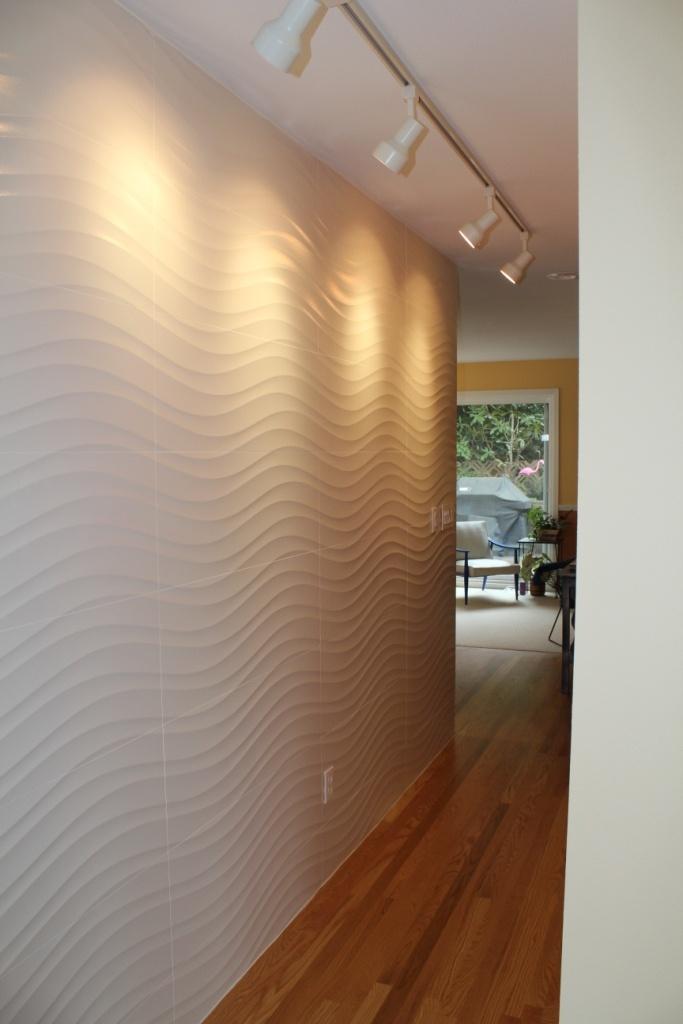 San Francisco Residence Porcelanosa Tile Wave Wall