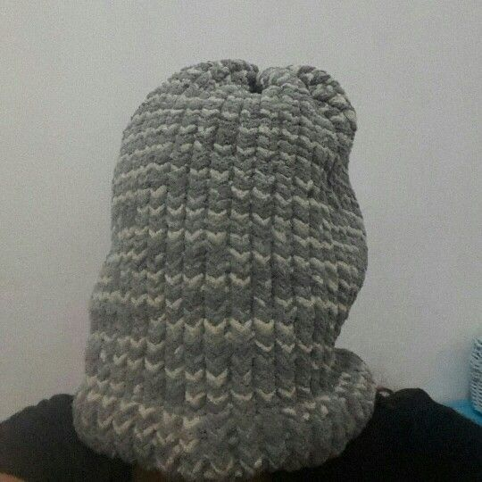 Huge beanie #loomknitting for Emil Gangstarasta