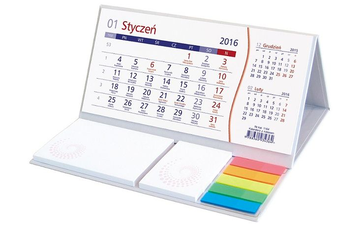 Kalendarz biurkowy z notesem - STANDARD