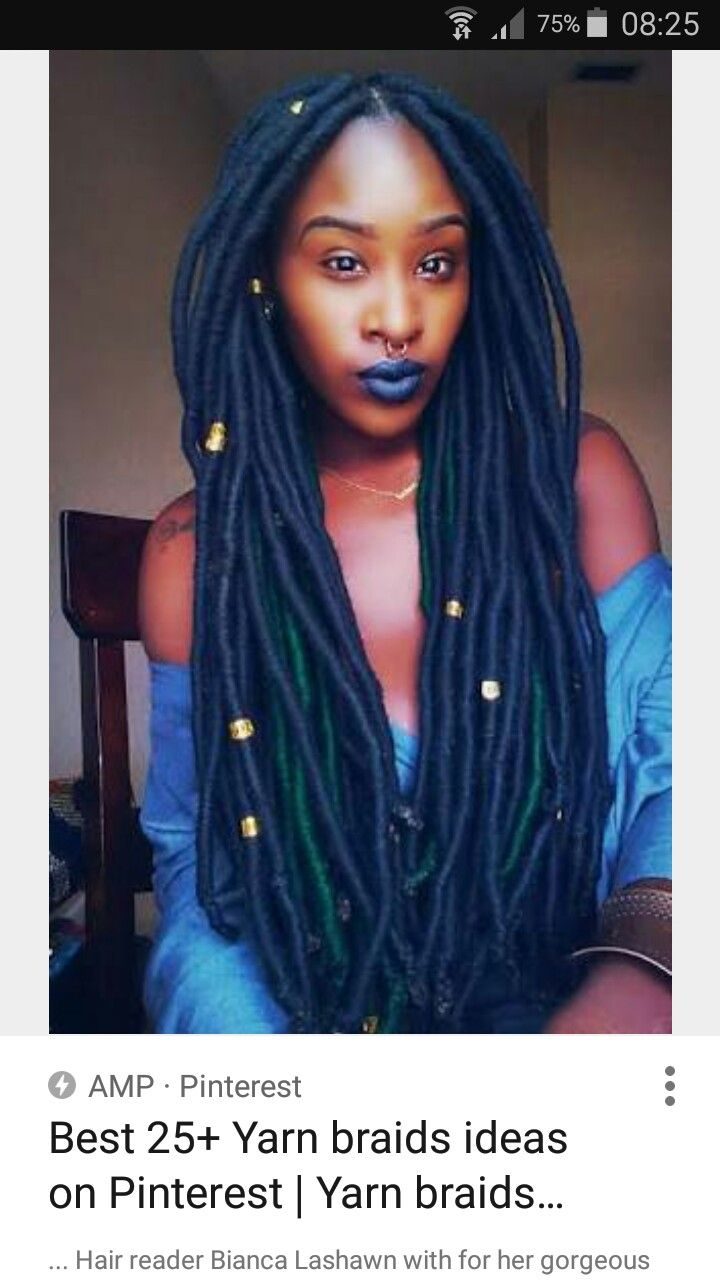 faux locs   locs   hair styles, yarn braids styles, yarn dreads