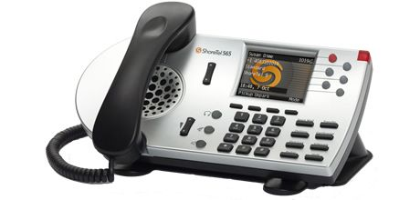 ShoreTel IP Phone 565g  ShoreTel's advanced telephone, the IP 565g provides 6 line appearances, color-lit line buttons for instant call recognition and identification, a rich backlit color display, and a Bluetooth interface that lets users connect with Bluetooth headset for hands-free calling.