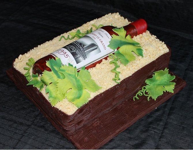 taart met wijnfles - Google zoeken
