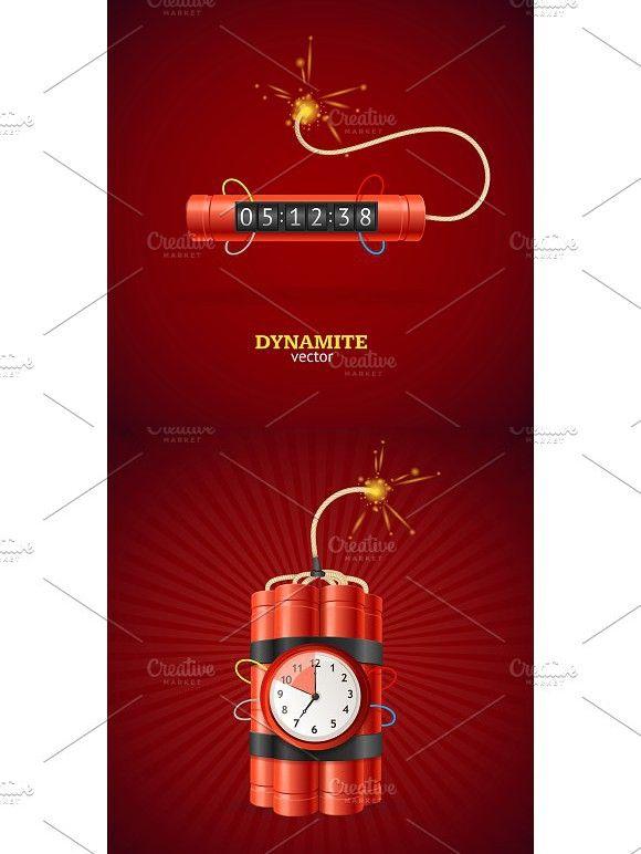 Detonate Dynamite Bomb And Timer Christmas Clock Clock Design Timer Clock