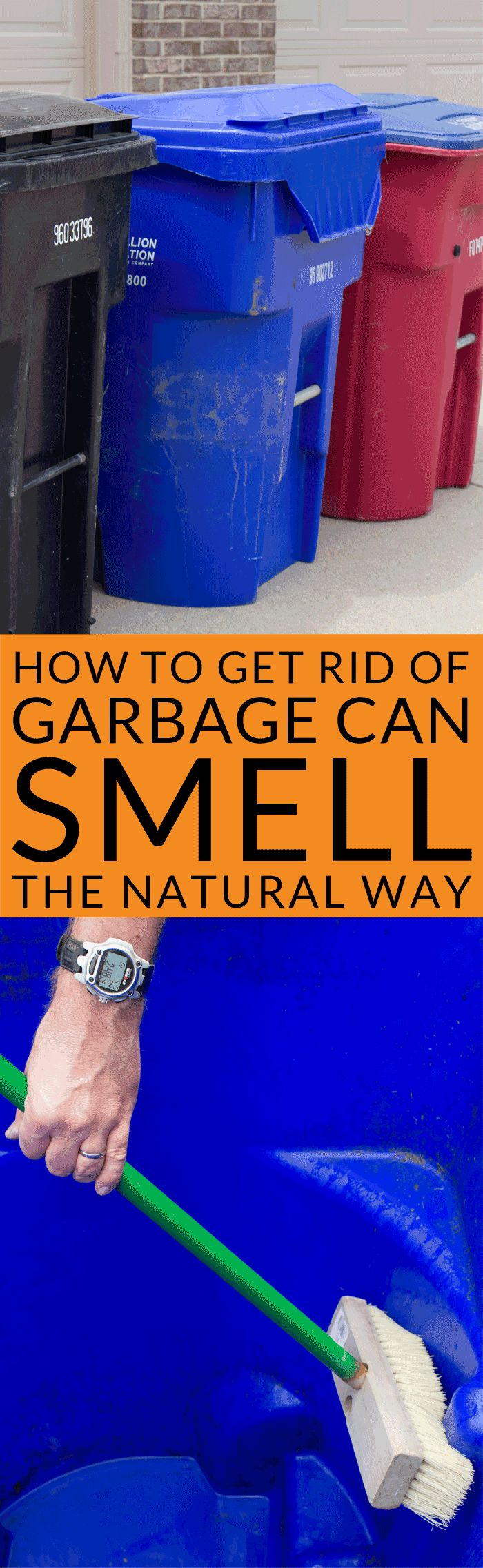 Got a smelly stinky garbage can? Naturally clean your outdoor garbage cans with vinegar to deodorize and eliminate odors. Learn how to get rid of garbage can smell naturally with this easy green cleaning tip. Cleaning with vinegar is non-toxic and environmentally friendly for outdoor cleaning. Sponsored.