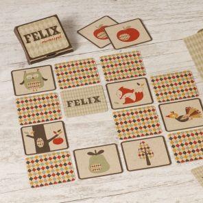 Met dit originele memospel blijft de geboorte van je kindje jarenlang een leuke herinnering! Het spel bevat kaartjes met leuke retromotiefjes, gedrukt op ecopapier. Daarnaast kun je op enkele kaartjes de naam van je kindje laten drukken. En je krijgt er een handig opbergdoosje bij, waar de naam van