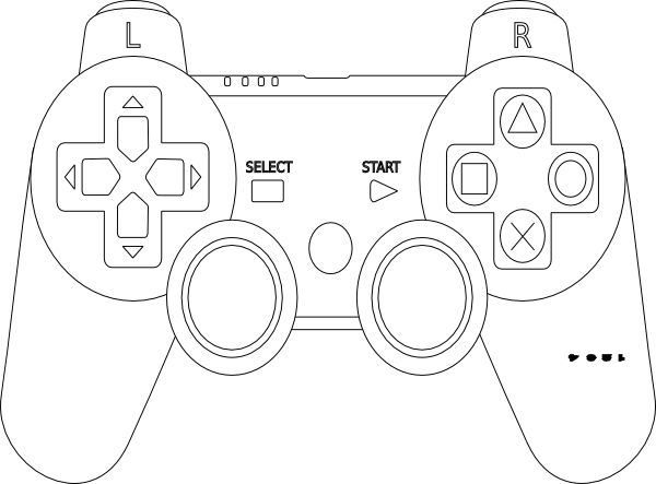 Game Controller Coloring Page Impulse Control Pinte