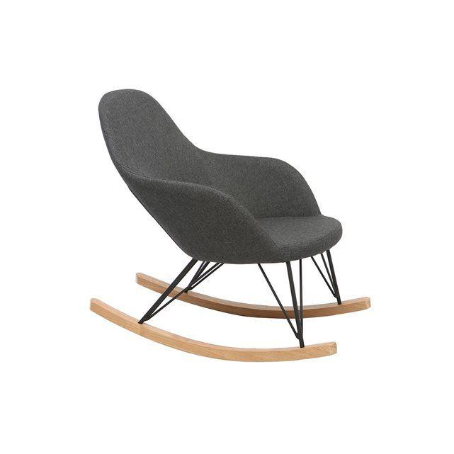 best oubliez tout et dtendez vous dans le fauteuil relax rocking chair tissu gris anthracite. Black Bedroom Furniture Sets. Home Design Ideas