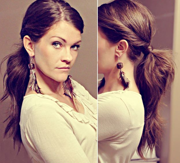 14 Stylish Ponytails: Hair Ideas, Hairstyles, Bobbypin, Twists Ponies, Hair Do, Twists Ponytail, Hair Style, Ponies Tail, Bobby Pin