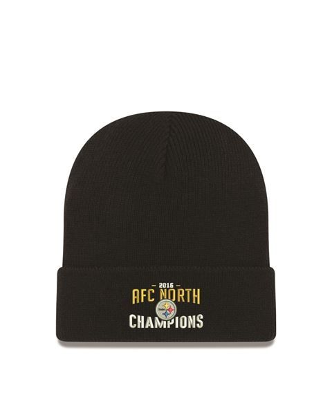 Picture of Pittsburgh Steelers 2016 AFC North Division Championship Knit Hat