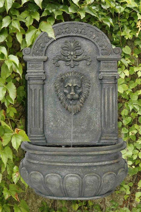 Imperial Lion Outdoor Wall Water Fountain Yard And Garden Decor French  Limestone