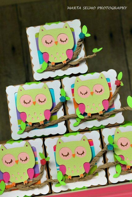 Favors from an Owl Party #owl #partyfavors