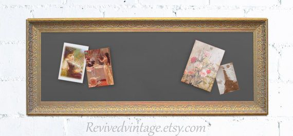 "KITCHEN BULLETIN BOARD For Sale 42""x17"" Narrow Kitchen Magnet Board Magnetic Blackboard Wedding Menu Board French Country Chalk board"