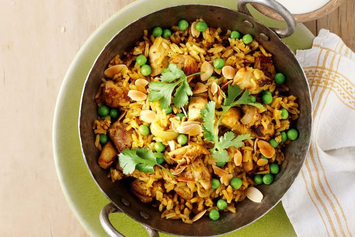 Indian curried chicken and rice