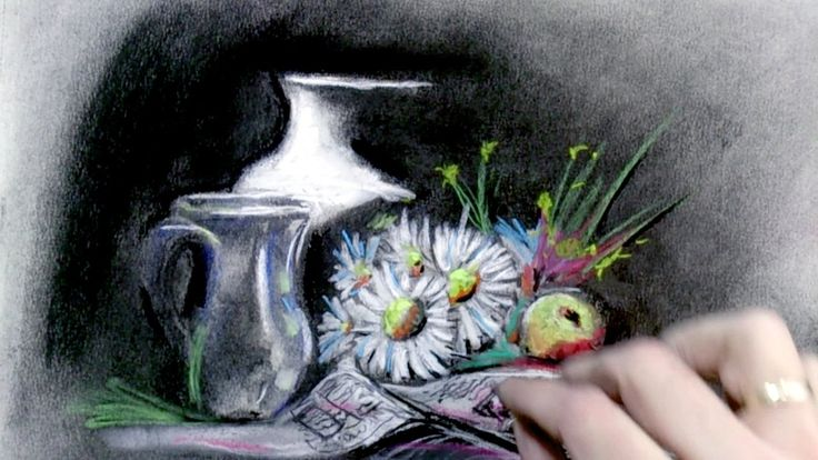 Como Pintar un Bodegón al Pastel y Carboncillo: Tecnicas de pintura al P...