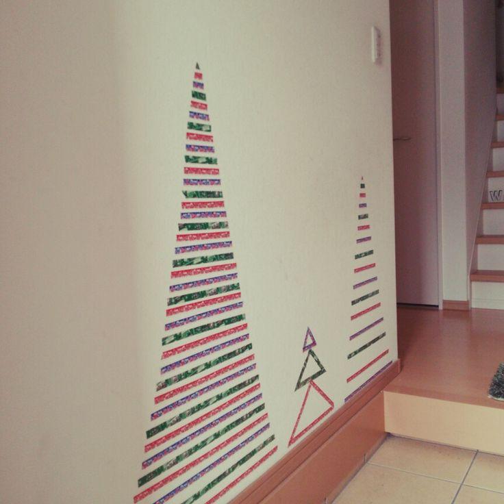 セリア マスキングテープ クリスマスのインテリア実例 | RoomClip (ルームクリップ)