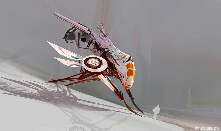 Mosquito Ship by jason pickthall   Sci-Fi   2D   CGSociety
