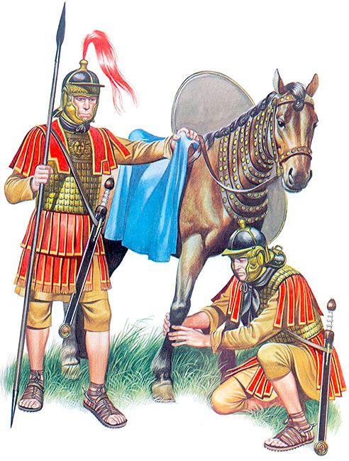 Cavalry Decurion, c. 200-300 AD; Cavalry trooper, c. 200-300 AD