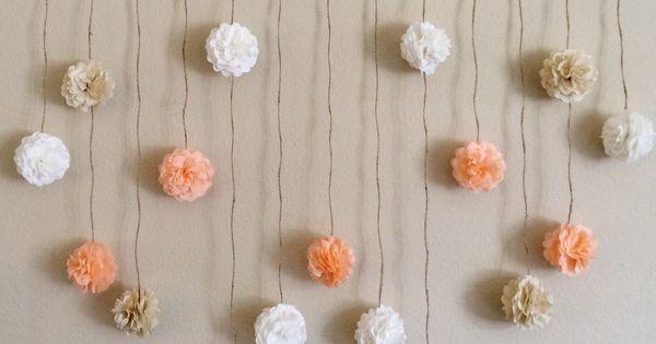 티슈페이퍼 꽃 and 꽃 on Pinterest