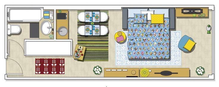 Квартира-студия 30 кв.м с мини-кухней: шведский стиль на испанский лад