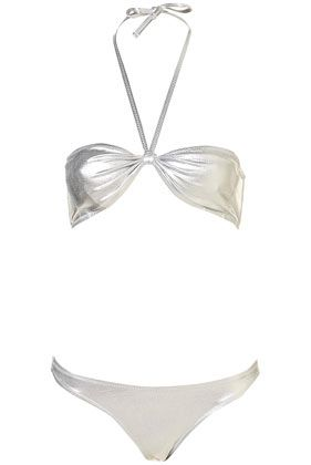 Foil Bandeau Bikini