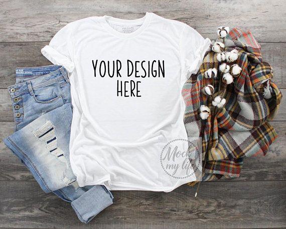 Download Free Gildan 42000 White Shirt Styled Flat Lay Mockup Fall Psd The Free Psd Mockup File Consists Of Smart Objec Shirt Mockup Clothing Mockup White Shirt Style