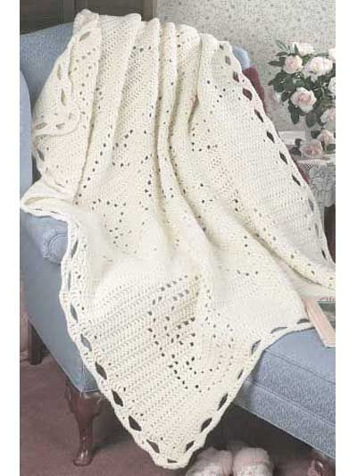 Wedding ring filet Afghan crochet instructions .. see my crafts document for instructions