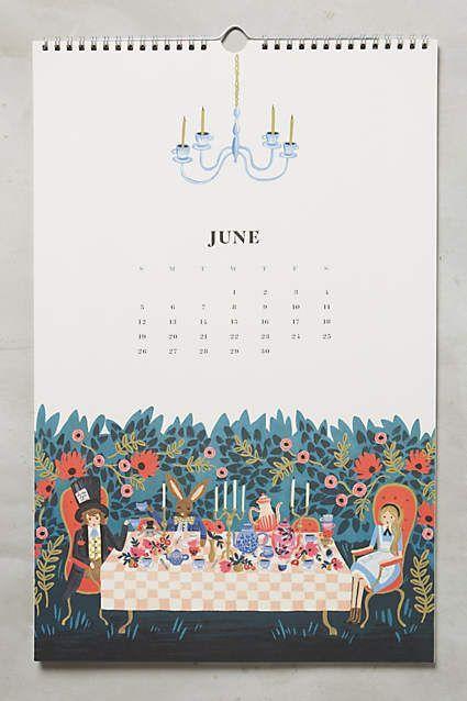 Alice in Wonderland 2016 calendar! www.shoppigment.com:
