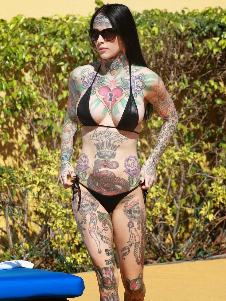 goth girl bikini tattoo sexy | Sexy and Strange ...