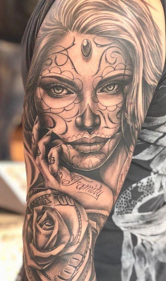 Los Tatuajes De Estilo Chicano en 2020 Tatuaje del día