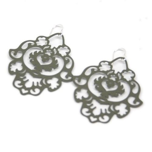 ASPEN Crest Earrings (Olive) via http://mademoiselle-m.com