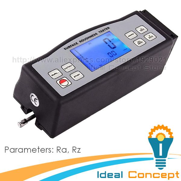 Multi-parameter Digital Portable Surface Roughness Meter Gauge Metric Imperial Tester Ra Rz #Affiliate