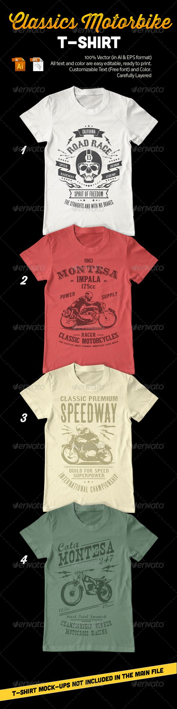 Design your own t shirt free download - Classic Motorbike T Shirt