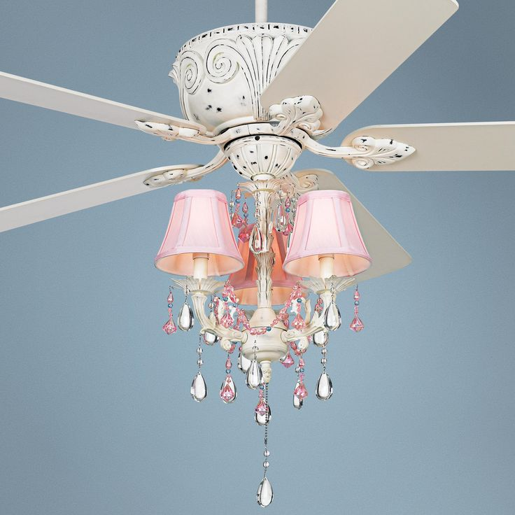Casa DevilleTM Pretty In Pink Pull Chain Ceiling Fan Chandelier ChandeliersCeiling