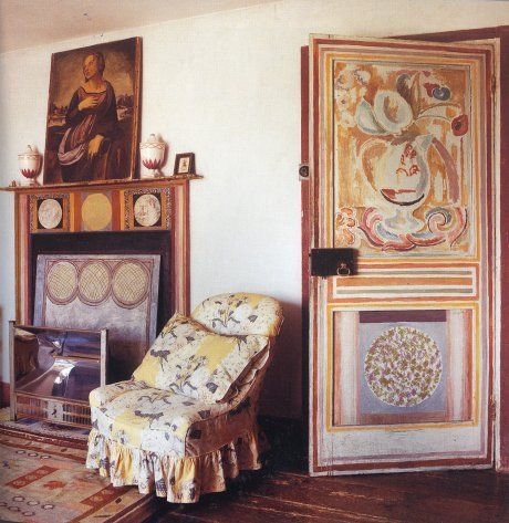 Vanessa Bell's home, every inch decorated by her.