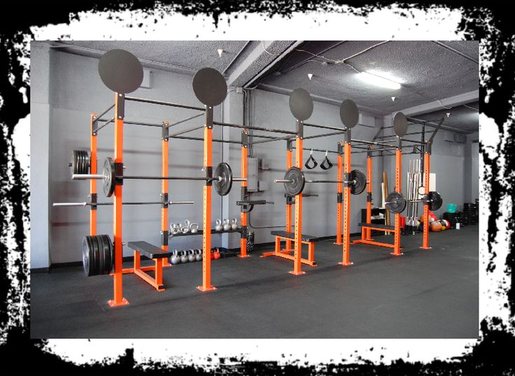 Functional rig with wall ball targets crossfit box