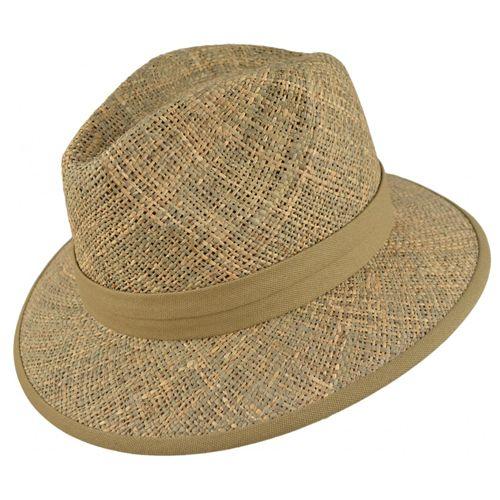 Palarie Panama Safari din paie si material textil Aceasta palarie Panama Safari intruneste stilul ambelor tipuri de palarii: are forma tipica palariei clasice Panama si este realizata din materiale specifice palariilor Safari. Fie ca sunteti amator de calatorii in jungla africana, fie ca sunteti pescar sau vanator, fie ca sunteti pur si simplu amator de accesorii extravagante, aceasta palarie Panama Safari, de culoare natur, este un must have. Este o palarie semirigida si functionala…
