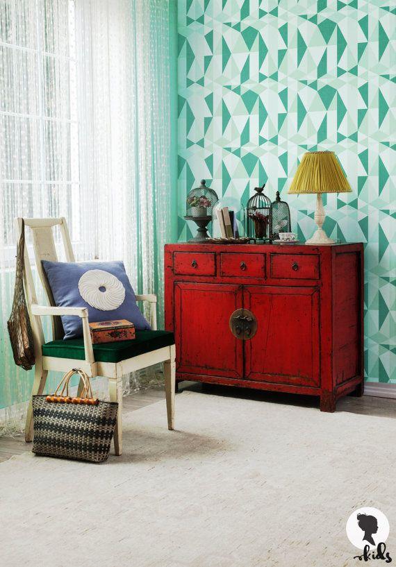 Geometric Removable Wallpaper Nursery Wall Mural by
