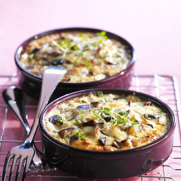 Clafoutis d'auberginesVoir la recette des clafoutis d'aubergines