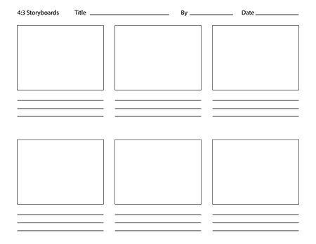 Storyboard Templates for Animators.